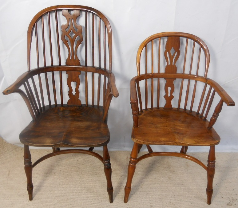 Attractive Windsor Kitchen Chairs #12: ... Six Windsor Yew And Elm Kitchen Chairs - SOLD ...